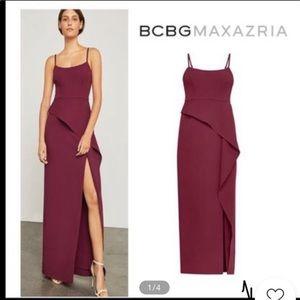 Bcbg Stella peplum gown